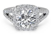 """Halo Engagment Rings / Halo-style engagement rings 