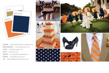 navy and orange / by Tina Whyte