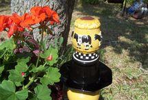 Ceramic garden totems / by Parna Henry