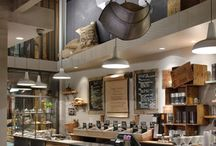 Com. Int: Cafe - bakery - to go food - interiors / by Kat M