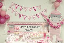 Sock Monkey Pink Party / All the little monkeys, jumping on the bed...with this exclusive birthday party theme from BirthdayExpress.com!   #SockMonkey #pink #birthdayexpress / by Birthday Express