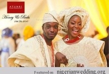 Real Couples: Traditional Engagement Wedding / The colors of aso-oke you choose for your traditional engagement wedding day set the style and tone for your entire event. Like we know, traditional engagement ceremonies are usually colorful and full of life and activites. There are several ways you can implement your choice of colors, from the decorations, cake, favors, accessories, table linens and even the invitations! One tip: make sure you choose the colors you love, typically, you want a maximum of three to five colors in your palette. / by Nigerian Wedding
