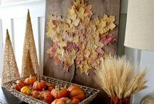 Table centrepiece fall / by Maria Bertrand