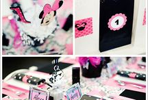 Liyahs 2nd and Nasirs 1st bday together / Mickey and Minnie themed  / by Kendra Abdul-Malik
