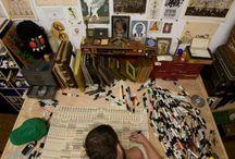 Art studios, visual design ideas / by Kimberly Cecil