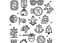 icons / by Gráfica En Curso