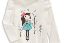 { My designs } / toddler girls tops - t-shirt fashion illustrations / by Bodesigns