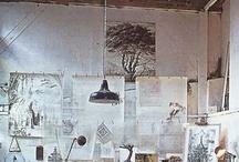 art studio & work space / by Hanh Truong