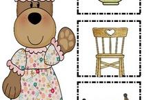 thema: sprookje - goudlokje en de drie beren / by Diane Reypens