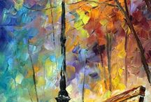 Art  I ❤  / Mostly from favorites~ Leonid Afremov, Thomas Kindade & Andre Kohn / by ~Angels & Skulls~