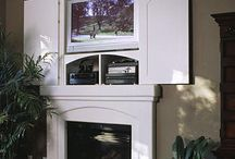 If you must put the TV over the fireplace / by Rhonda