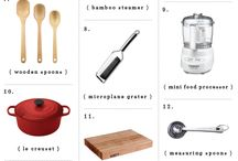 Kitchen essentials / Things to make cooking and baking more efficient / by Irene Doucet
