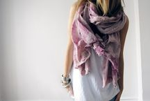 scarf love. / What's not to love about a material square? / by Kym Piez