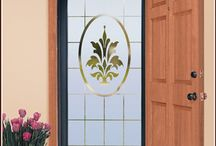 Beautiful Etched Glass Window Film / by Wallpaper For Windows