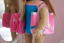 AG doll Beach and swim wear / Bathing suits for American Girl dolls or other 18 inch dolls.  / by Margaret Johnson
