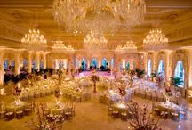 Yellow / Gold Reception Lighting / by Nigerian Wedding