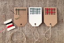 Less Waste Wrap and Gift Tags / Christmas wrap, Eco-friendly ideas for less waste but cute gift wrap.  / by Donna reCREATE