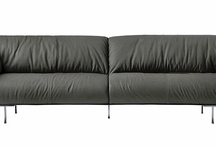 sofas / pinning sofas i like until i make up my mind on which to purchase. has to be modern and minimalist and comfortable and grey. / by myra kohn