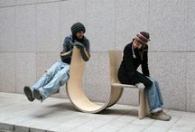 Interesting street artworks and buskers. / Innovation street artworks, furniture and buskers are full of fun and happiness. / by Fang-Yao Lu