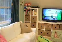 Kids rooms and playroom spaces / by {anything's POSHible} SharilynSheerin