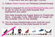Behind The Shoes: Winner Takes All!  / Expand your Closet with the Spoils of your CONTEST winnings! Follow this board and Participate to win!  / by Street Moda