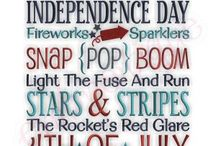Fourth of July Designs / Fourth of July Embroidery Designs / by Embroitique