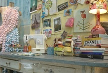Craft Room/Craft Booth Inspiration / by Stephanie Chan @ The Silly Pearl
