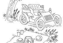 embroidery - vintage scenery / by Hazel TheBunny