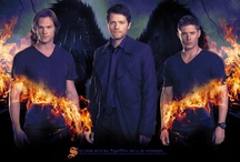 """Supernaturally Obsessed / I absolutely love this show.  Every Friday night, my husband, my mother, my son, and I gather to watch it.  And we painfully endure the weeks of hiatus until the next new episode.  I love the characters, but I love the men more!  They are all REAL characters, for sure!  Misha, Jensen, Jared...I <3 you all!  If you want to view more of my favorite hunter, check out my """"Jensen Ackles"""" board to see hundreds (I'm sure it will become thousands) of photos of that beautiful manly specimen by himself! / by Cindy Wooten"""