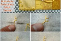 Handstitching / Handstitching tips and tricks, new stitches you might not be familiar with and old favorites that are so useful.  / by Deby at So Sew Easy
