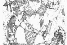 Comics, cartoons, superheroes & villains / by BUBBA