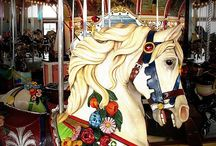 Painted Ponies / Carousel, Merry-Go-Round, Rocking Horse, Carved Animals, Beasts and Amusement Park Ornamentation / by Dumbunny