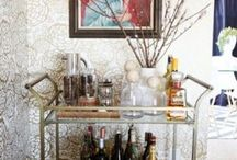 Bar cart vignettes / by Rachel Hardin