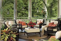 Outdoors ~ sunrooms, porches, patios, pools / Anything outside / by Janie Wise-Wilson