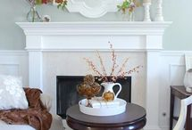A Pop of Mantel Decor / How to decorate a mantel / mantle.  Mantel decorating ideas. Mantle decorating ideas. / by Kerri {A Pop of Pretty Blog}