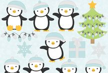 Blue and white winter graphics and party inspirations / by Mygrafico Digitals