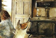 """Andrew Wyeth / A lonely world. Andrew Newell Wyeth (July 12, 1917 – January 16, 2009) was a realist painter. He was one of the best-known U.S. artists of the middle 20th century. Wyeth often noted: """"I paint my life."""" One of the best-known images is his painting Christina's World. In 1986 was the revelation of 247 studies in The Helga Project. Wyeth met Helga at a farm and painted her over the period 1971–85 without the knowledge of his wife or Helga's husband. http://en.wikipedia.org/wiki/Andrew_Wyeth / by Appeltaartje Met Slagroom"""