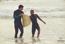How it is like volunteering for the Surf program in South Africa? / A project for adrenaline junkies and kid lovers - Witness the fun and frolic that our volunteers and the kids in South Africa had during their volunteering stint.  http://www.volunteeringsolutions.com/volunteer-abroad/volunteer-in-south-africa#surfing-project-southafrica / by Volunteering Solutions