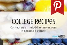 College Recipes / Easy recipes for college students. Content curated by hundreds of college students. To become a pinner please follow Flashnotes.com and email help@flashnotes.com with a link to your Pinterest boards and you will be added. Please pin college related content =) No spam. No inappropriate pins. Thanks! / by Flashnotes.com