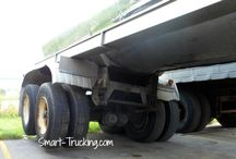 Truck Driver Safety: Driving Safety Tips & Tricks. / What always SHOULD come first for a trucker, is the 'safety' factor. Look for little tips, tricks and advice for safety on the road. / by Smart Trucking