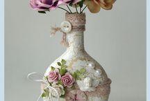 Altered bottles, vases & jars / by Elizabeth Russell