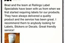 Testimonials / by Rallings Labels