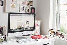 Home office / Decor and styles I like for desks, chairs, lighting, and storage. / by Rebecca Cristina Silva