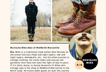 """Vintage Style: Mike Ader / """"Mustache"""" Mike Ader (http://www.midnorthmercantile.us/)  / by Mpls.St.Paul Magazine"""