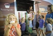karavan: our sweet ride / book for you next party, today! contact us: karascupcakes.com  / by Kara's Cupcakes