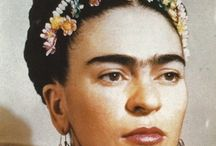 """frida / """"No moon, sun, diamond, hands — fingertip, dot, ray, gauze, sea. pine green, pink glass, eye, mine, eraser, mud, mother, I am coming.""""  ― Frida Kahlo, The Diary of Frida Kahlo: An Intimate Self-Portrait  / by Pearls With Plaid"""
