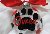 Pet Christmas / Pet ornaments and accessories for Christmas / by Treasured Friends - Pet Memorials / Pet Keepsakes
