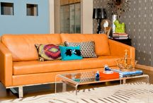 Orange Pop / Tangy, zesty orange–we've got such a crush on you. And why not?  This cheery hue energizes and uplifts while infusing interiors with warmth. / by Mannington Mills