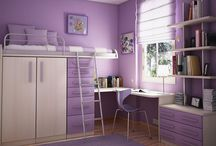 Girl's Bedroom Ideas / Because my daughter is getting her own room. And she loves purple.  / by Colleen Smith