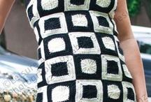 Вяжем крючком платья, юбки, топы, жилеты, кофты / Модели, идеи, схемы для работы / by Lana Vanina